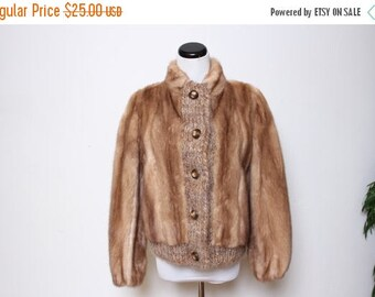 25% OFF VTG 60s Sam Bifano Mink Knit Jacket Crafts and Cutters For Projects Only