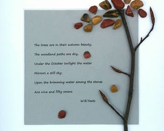 The Trees Are In Their Autumn Beauty...a handmade gift from Ireland with the poetry of W.B. Yeats