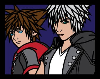 KINGDOM HEARTS III - Sora & Riku Cut-Paper Artwork