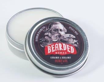 Bearded Nomad's Cinnamon and Bergamot beard and moustache wax