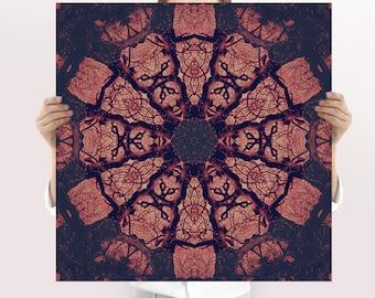 Boho Art Print - Mandala Art Print | Spiritual Art | Sacred Art | Printable Art | Holistic Gift | Energy Healing | Kaleidoscope Print