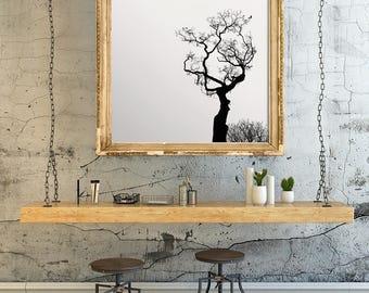 Scandinavian Art Print - Tree Art Print - Black and White Nature Print, Natural Wall Art - Printable Decor, Winter Tree - Divine Digital