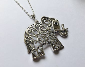 Elephant Necklace, Elephant Pendant, Elephant Jewellery, Gift for Her, Birthday Gift, Gift for Friend, Gift for Him, Animal Lover