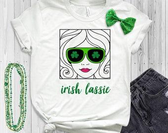 Women's St. Patrick's Day Shirt - Irish Lassie- Irish Girl T-Shirt