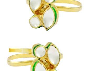 Kundan Toe Rings