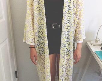 Yellow sunflower kimono