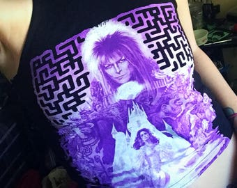The Labyrinth David Bowie Crop Top Size Small