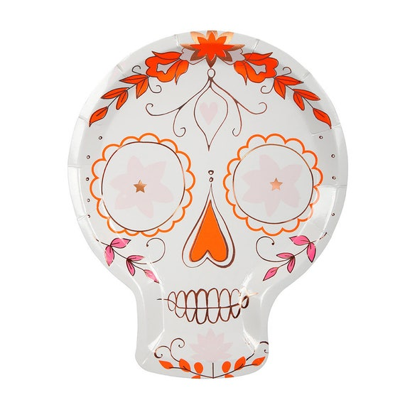 Il_570xn  sc 1 st  Catch My Party & Day of the Dead Sugar Skull Party Plate | Fiesta Party Paper Plates ...