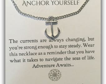 Anchor Yourself Pendant Necklace