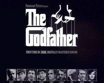 Back to School Sale: THE GODFATHER Movie Poster Mafia Francis Ford Copolla Marlon Brando Al Pacino