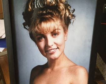 "EARLY HOLIDAY SALE: Laura Palmer 'Home Coming PIcture"" Framed Twin Peaks Collectible ""Who Killed Laura Palmer"" Photo"