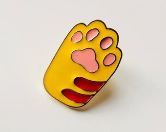 Paw | Cat | Kitten | Cat Lady | Kawaii | Cute | Pin | Badge | Retro | Hipster | Upcycle | Accessory | Modify