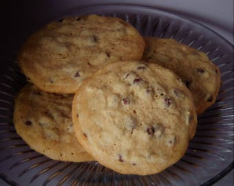 Soft & Chewy Chocolate Chip Cookies - Homemade, 1 Dozen