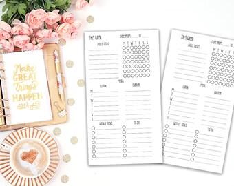 weekly tracker printable planner insert v Anngeli- Filofax personal - Kikki K Medium - print at home - planner refill