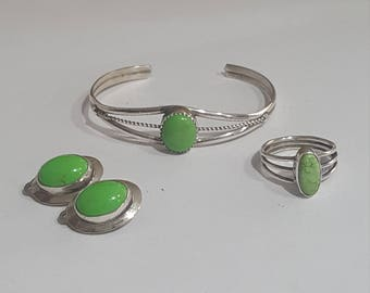 Native American Sterling Silver Set