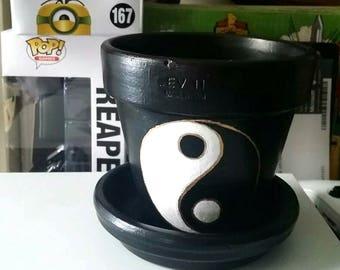 Yin and Yang Clay Pot
