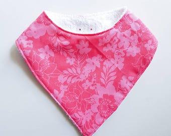 Pink hibiscus dribble bib