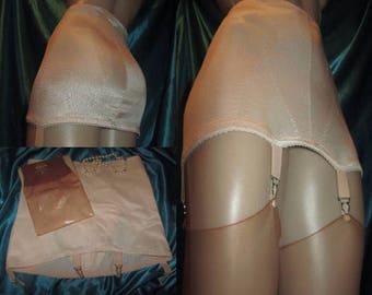 garter girdle & stockings size 12/USA 22/Au