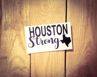 "ALL Proceeds will be DONATED- Decal for Orca Yeti RTIC Ozark Vinyl Sticker Cup Cooler Car window *You Pick Color* 2.5""x4.0""-Houston Strong"