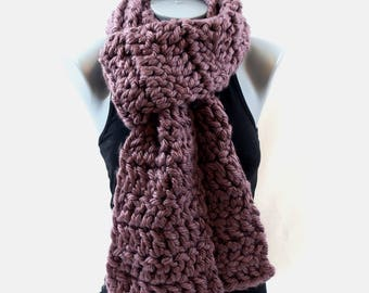Scarf / Super Chunky Soft Crochet Scarf / Purple Scarf / Long Scarf / Women's Scarf / Crochet Scarf /  Scarf / Thick Scarf