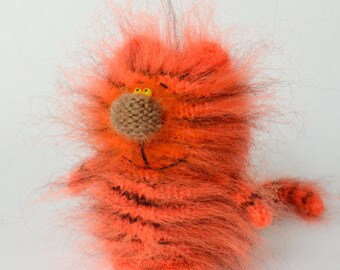 Boo Tiger Knitted Toys Amigurumi toy tiger Knit Tiger Little tiger stuffed Tiger knit Tiger Halloween Tiger knit toys Halloween