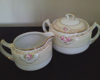 Nippon NIP23 Cream Pitcher and Sugar Bowl
