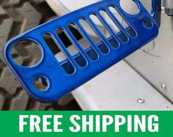 Jeep Foot Pegs for JK Wrangler | Blue Pair