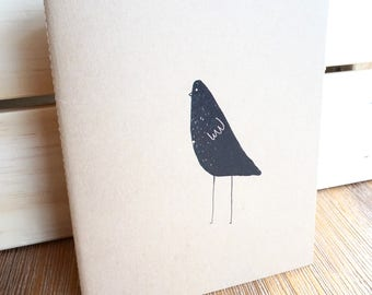 Bird, Minimalist Sketchbook, Journal, Notebook, or Memo Book