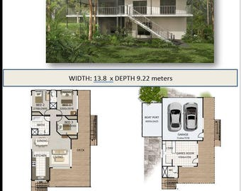 3 Bedrooms For Sale Set Plans 150M2 3 Bed 2 Bathrooms Hi Set Design High Set House
