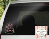 Vinyl Decal, Car Decal, Laptop Decal, Mirror Decal, Tumbler Decal,  Decals for Women, Mom Decal - This Mama Is Blessed