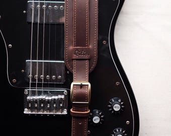 Vintage Leather Guitar Strap