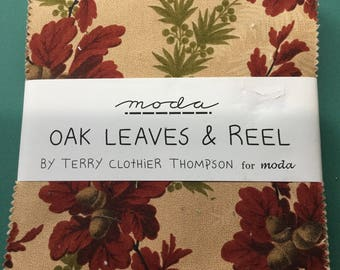 Moda Oak Leaves and Reel Charm Pack