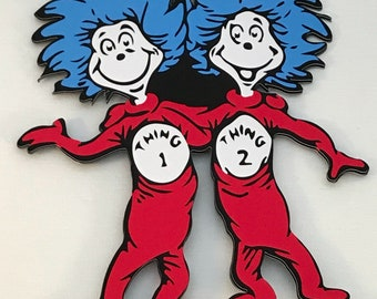 Thing 1 and Thing 2 Cake Topper