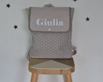 Personalized preschool backpack