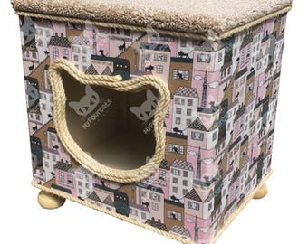 Footstool Cat Cottage Cat Bed Cat House Home Decor