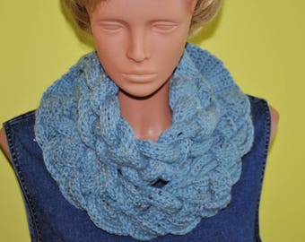 Crochet Double Layered Braided Cowl Valentines day gift women gift