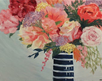 Floral Vase Painting