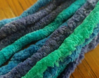 Multicolor yarn DE dreads (set of 7)