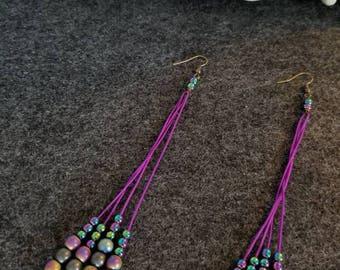 Purple Reign Dangle Earrings