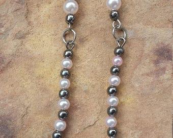 Long,simple,straight,light,beaded,handmade,minimalist,fashion.stylish,modern,elegant,trendy,holiday,new year,friend,dangle drop earrings