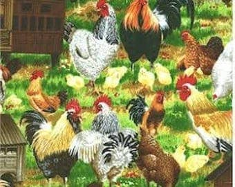 Chickens On The Farm Baby Crib Sheet