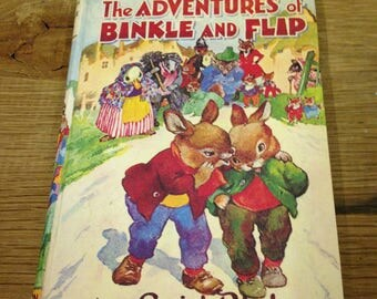 Vintage 1967 Enid Blyton The Adventures of Binkle and Flip - Children's Book Reaonable condition