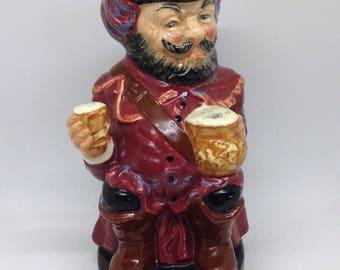 Toby jug, Vintage jug, Doulton Toby, Character jug, Toby Sir John Falstaff, Toby 1960, British Toby jug, collectable jug, Medium Size jug