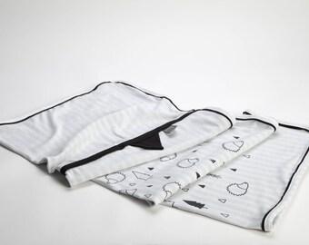 Pram Blankets, Baby Stroller Blanket,  Black and White Baby Blanket, Eco Friendly Baby, Gift for Baby Birth, Best Newborn Gift, KIPPI