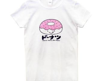 Donut T-Shirt, Pink Donut T-Shirt, Women's Donut T-Shirt, Donut, Sweet, Food Tee