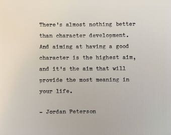 Jordan Peterson quote hand typed on antique typewriter gift girlfriend boyfriend husband wife wedding present bi