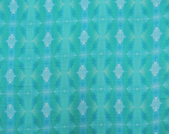 """Upholstery Fabric, Tie Dyed Print, Blue Fabric, Dress Material, Quilting Fabric, 42"""" Inch Cotton Fabric By The Yard ZBC8353D"""
