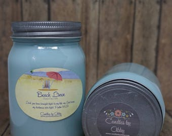 Beach Linen Scented Soy Candle