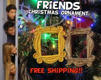 FRIENDS tv show frame Christmas Ornament friends frame friends peephole frame door frame marco friends series tv gift mom navidad