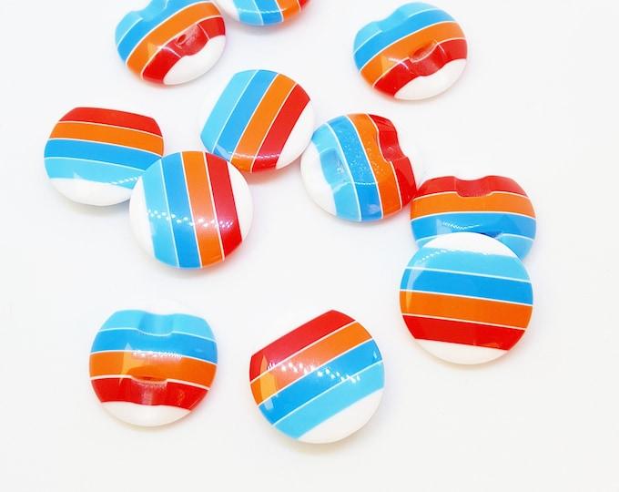 Stripey Buttons